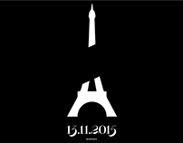 #prayforparis - tribute poster