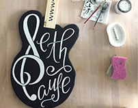 Handcrafted Guitar Signage