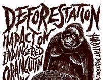 Save Trees, Save Orangutan Life | Social Poster