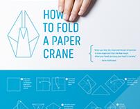 1000 Cranes Logo & Information Graphic Poster
