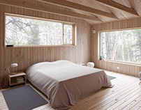 Bedroom of Holiday House Vindö by Max Holst