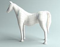3D Horse base model