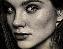 Illustration - Ady´s Portrait - Hyperrealistic sketch