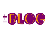 """The Blob Blog"" logo and template design"