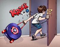 Sandálias Avengers