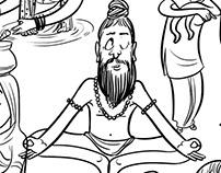 kumbha mela illustration