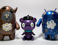 Cocoamonster, Pierre le Bear, Blue Steel Droid