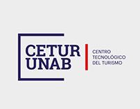 Logotipo y aplicaciones de marca para CETUR UNAB
