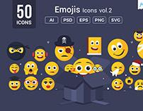 Emojis / Smiley Vector Icons V2