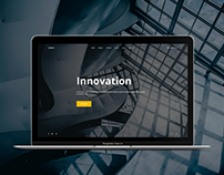 Download free html one page website template Innovation