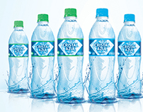 Cristal Azul Água Mineral . Mineral Water Packaging