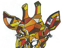 Cubism in giraffe