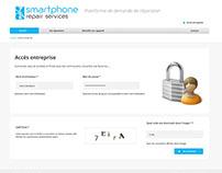 Phone Repair services - Dashboard