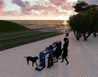 Water dispenser for park system - Blue