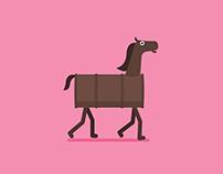 Walk Cycle — Horse