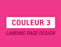 COULEUR 3 // landing page design