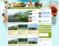 My Kerala Holidays Website Design