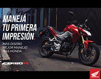 """AD: Campaña Honda CB190R """"Manejá tu primera impresión"""""""