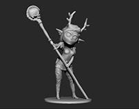 Firbolg Wizard - Chibi - 3D Printing
