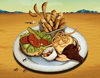Salvador Dalí Hamburger Illustration
