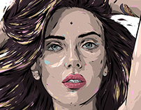 Adobe DRAW : Digital painting - Scarlett Johansson