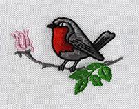 CUTE AND DELIGHTFUL ROBIN BIRD EMBROIDERY DESIGN