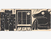Linocuts on the punchcards   Линогравюры на перфокартах