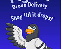 Pigeon Drone Delivery | Green Screen Composite