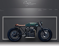 Cafe Racer Concept Web UI Design