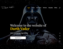 Website for Darth Vader
