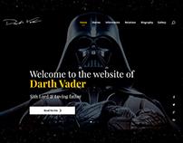 Website for Darth Vader