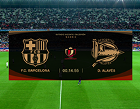 Copa del Rey On-Air graphics design