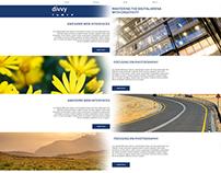 Divvy Creative Portfolio Website Concept