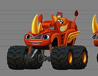 Blaze transform Rhino truck
