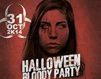 Halloween Blody Party Flyer/Poster