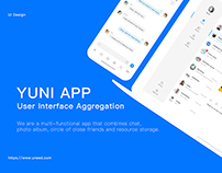 YUNI APP User Interface Design