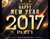 New Year 2017 Party Flyer Template