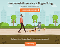 Dogwalking webdesign