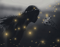 Fireflies Photoshop Action
