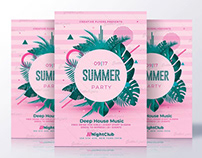 Summer Invitation - Flyer Psd