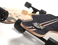 CGI: realistic longboard 3d model