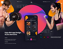 Keto diet plan app Design Ui /Ux elements
