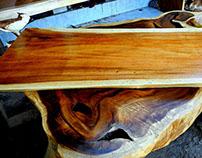WOOD SLABS TABLE