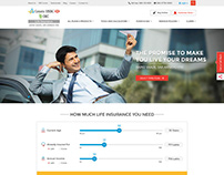 Canara HSBC Website UI/UX Design