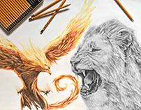 Lion and Phoenix 🔥