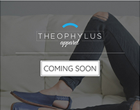 Theophylus Shoes · Coming Soon Landing Page