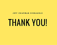 Jeff Chapman Eisnaugle: Undergraduate Work at the Un
