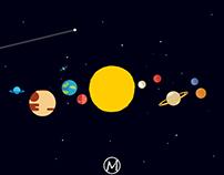 Solar System | Flat Art