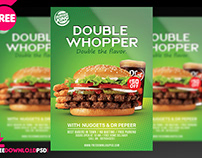 Double whooper burger party flyer
