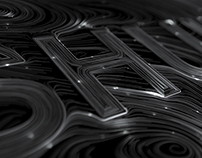 Houdini typography design